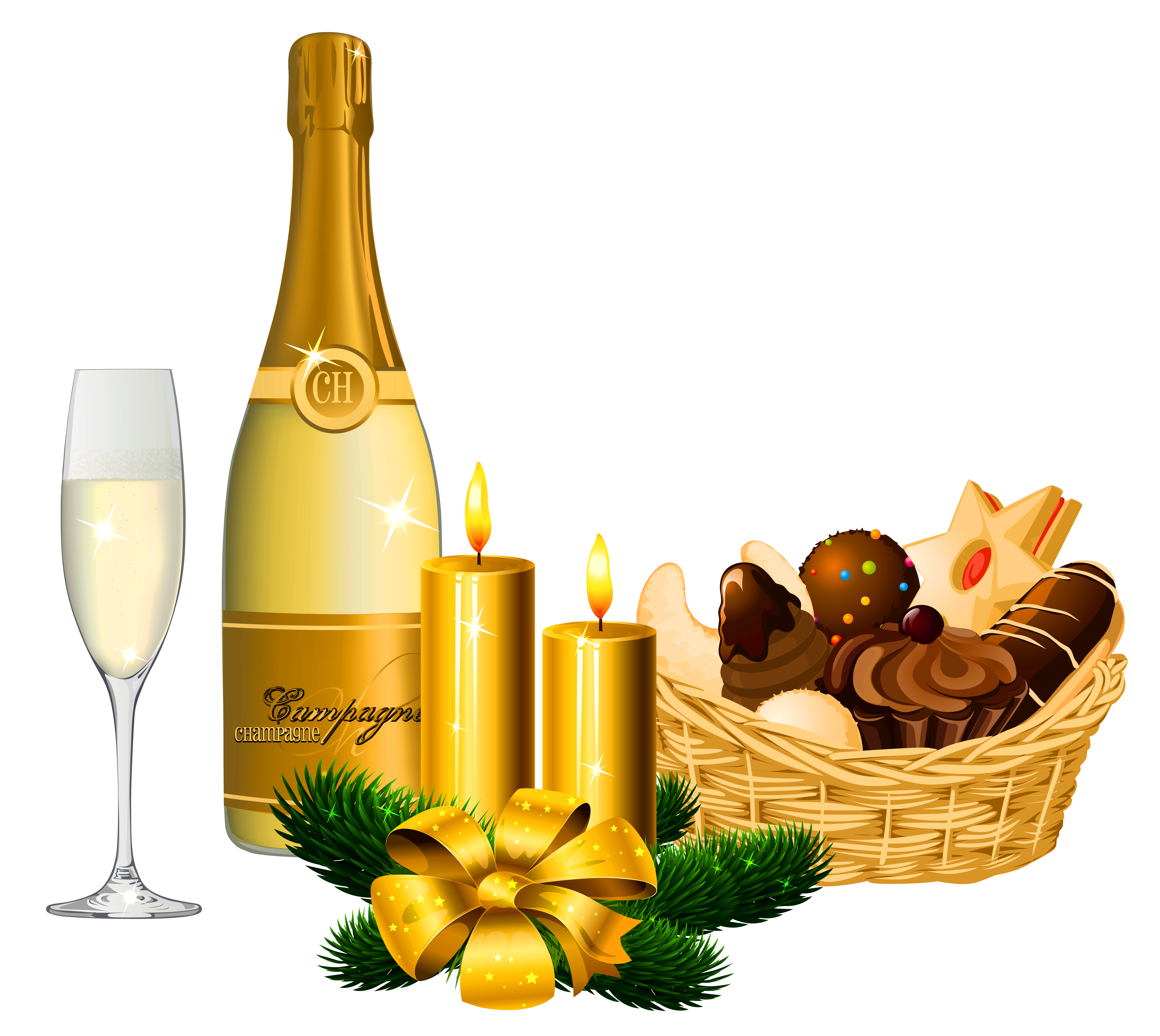 banner black and white Year delicacies and png. Champagne clipart new years eve.