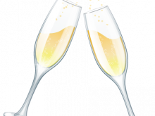 vector stock Champagne clipart toasting glass. Free wedding glasses clip.