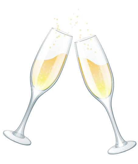 banner transparent Wedding glasses clip art. Champagne clipart.