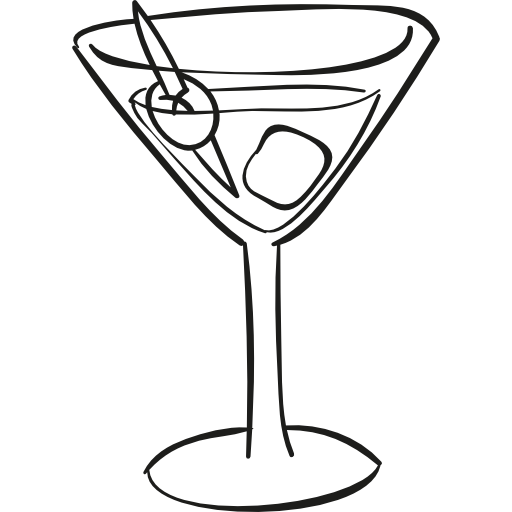 clipart library download Cocktail Glass with ice cube