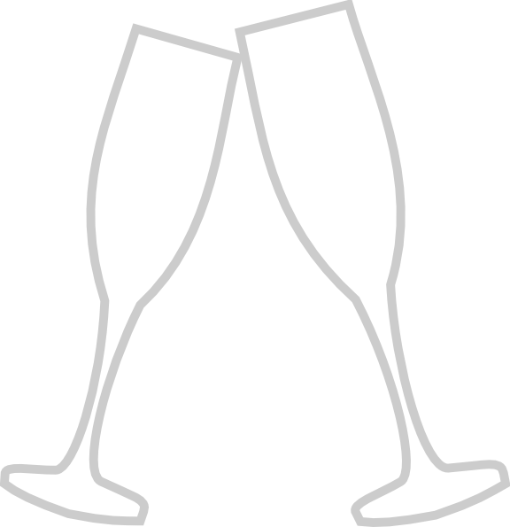 vector library stock Clip art at clker. Champagne glass clipart black and white