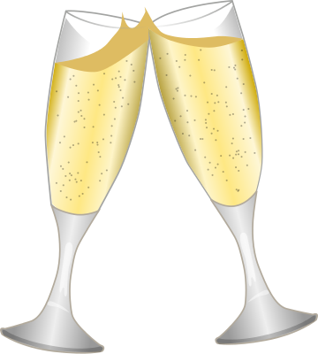 vector transparent stock Png . Champagne glasses clipart no background.