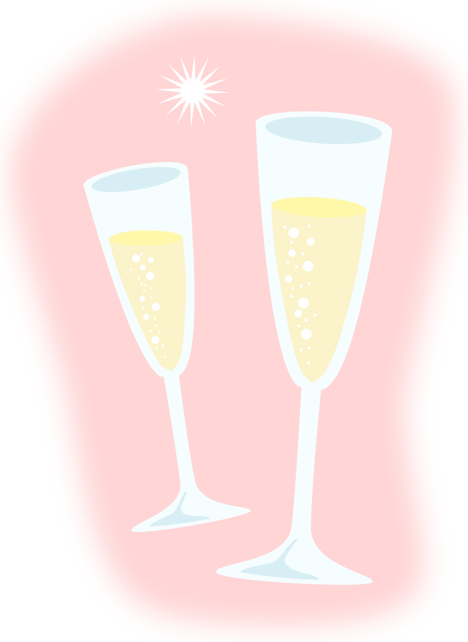 banner library download  collection of glasses. Champagne cheers clipart.
