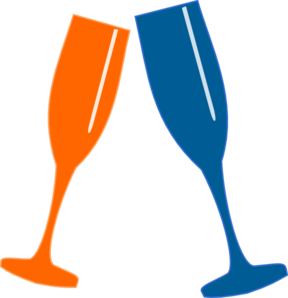graphic stock Champagne glasses clip art. Cheers clipart.