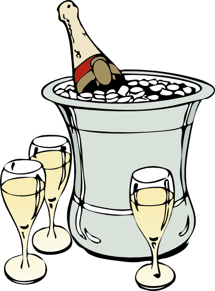 png free stock Champagne on ice clip. Champaign clipart.