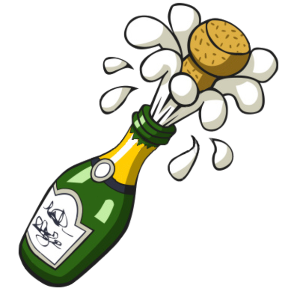 clip black and white library Champagne bottle . Champaign clipart animated.
