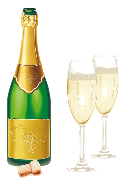 clipart black and white library New year open with. Champaign clipart champagne clink.
