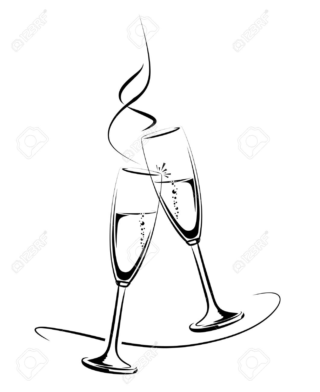 graphic transparent download Champaign clipart champagne clink. .