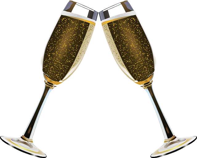 svg freeuse stock Champaign clipart champagne clink. Free image on pixabay.