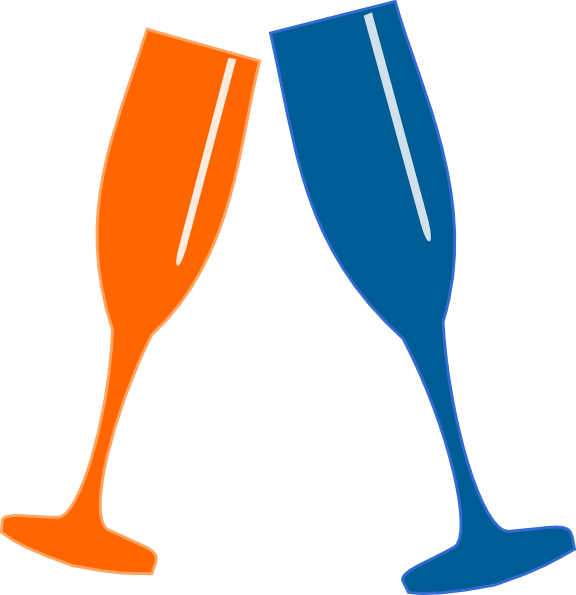 png transparent download Champagne glasses clip art. Champaign clipart cheer.