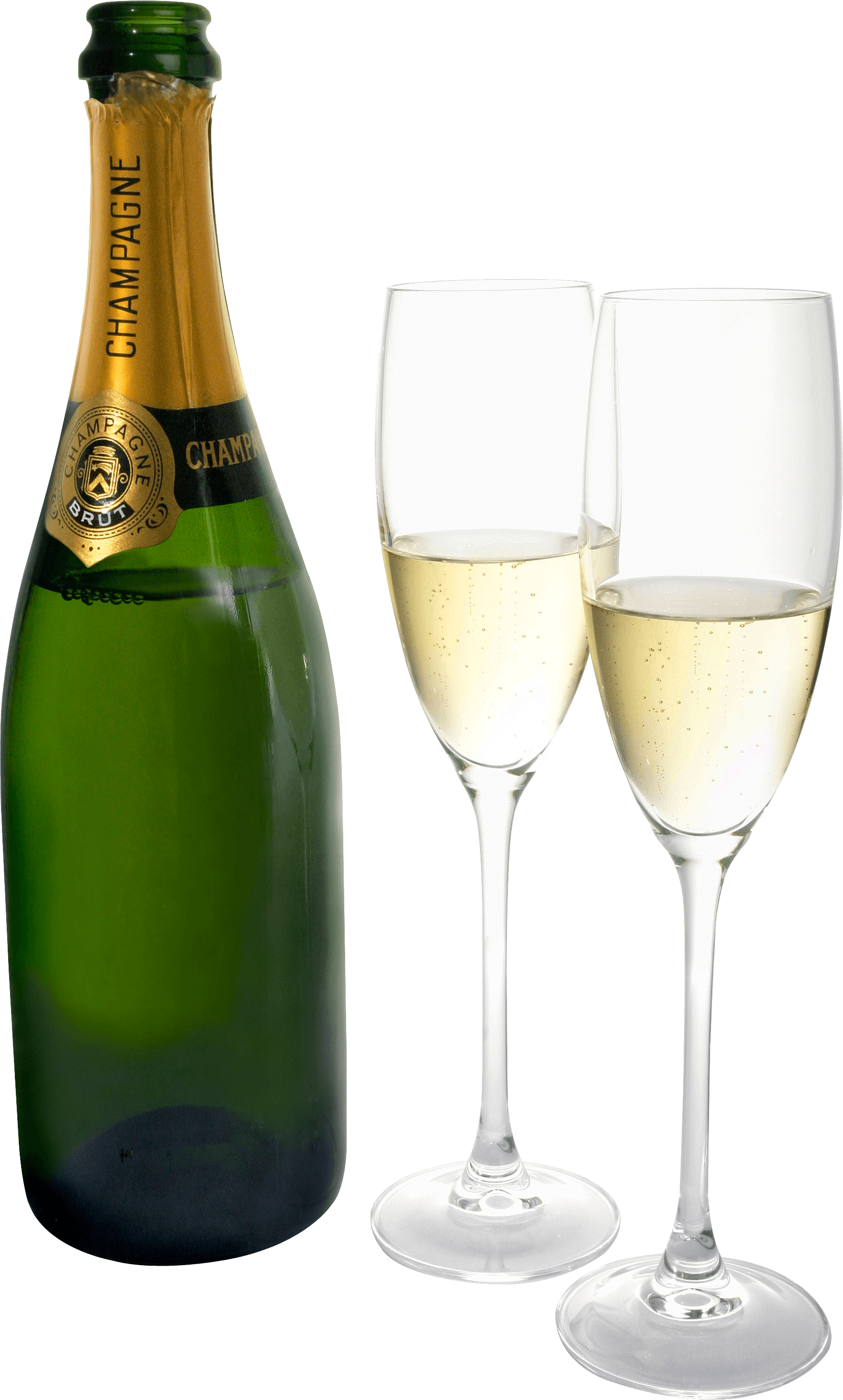 banner library stock Champagne glasses clipart no background. Two bottle transparent png.