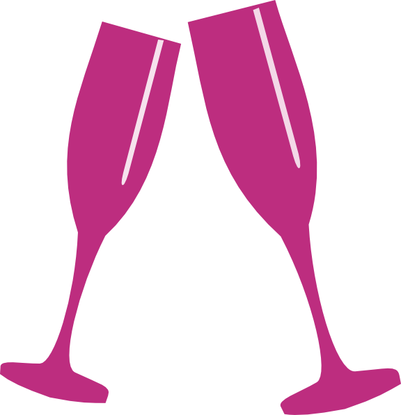 png transparent stock Pink champagne clipart. Glass clip art at.