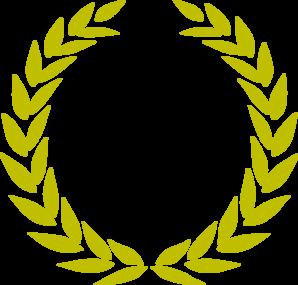 clip freeuse library Laurel gold clip art. Vector crest wreath