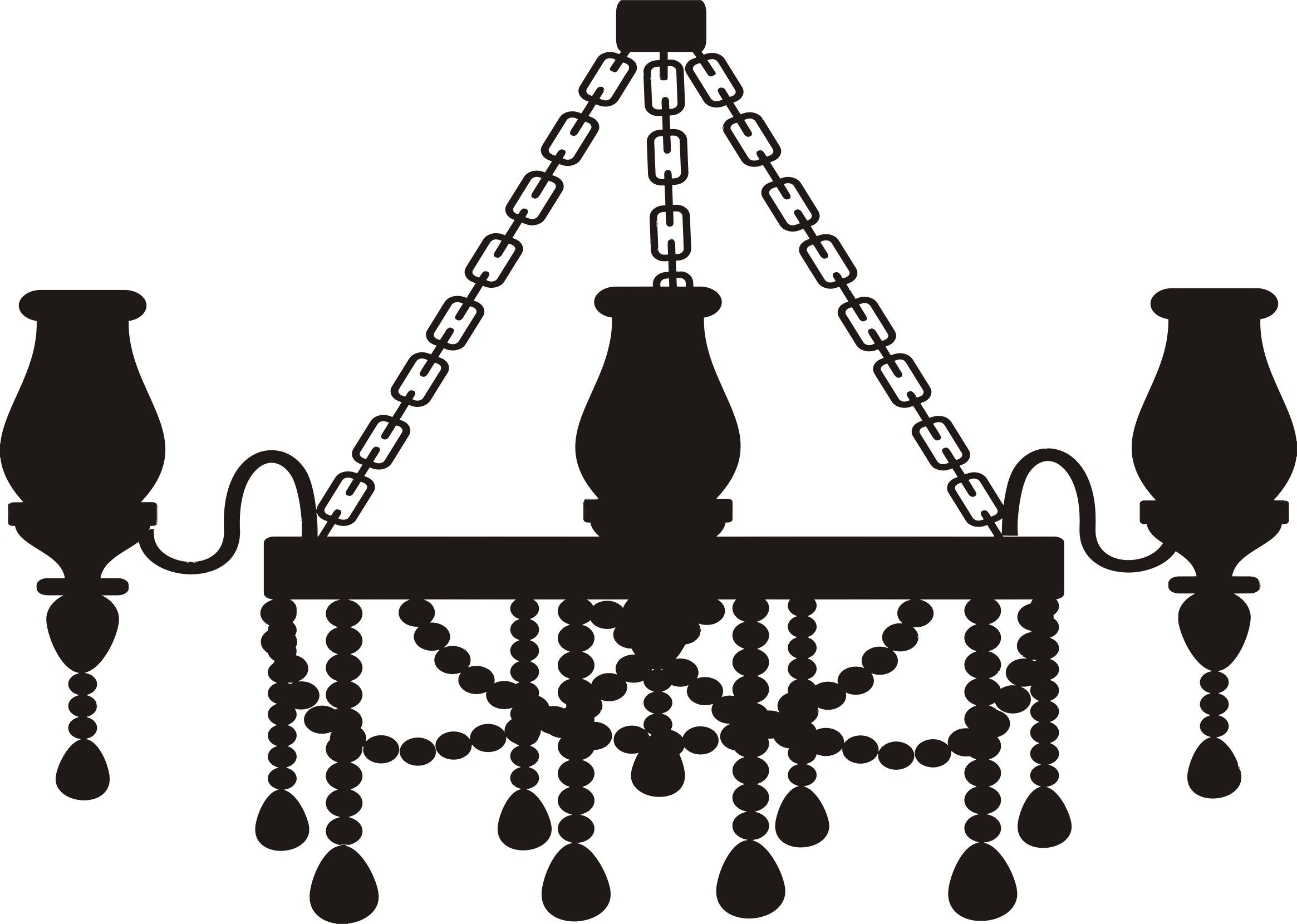 clipart royalty free Silhouette big image png. Chandelier clipart