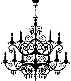 jpg royalty free library Chandelier clipart. Masque boutique luxury unique.