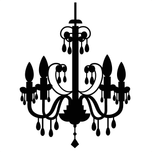 image royalty free Chandelier clipart. Black and white free.