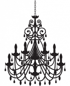 banner royalty free library Png images transparent free. Chandelier clipart.