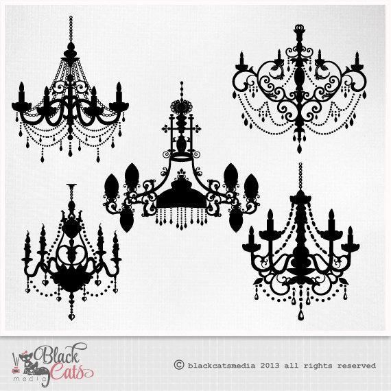 vector free Chandelier clipart baroque. Ornamental decorative clip art.