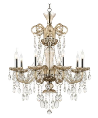 picture royalty free download Crystal light chandeliers png. Chandelier clipart baroque.