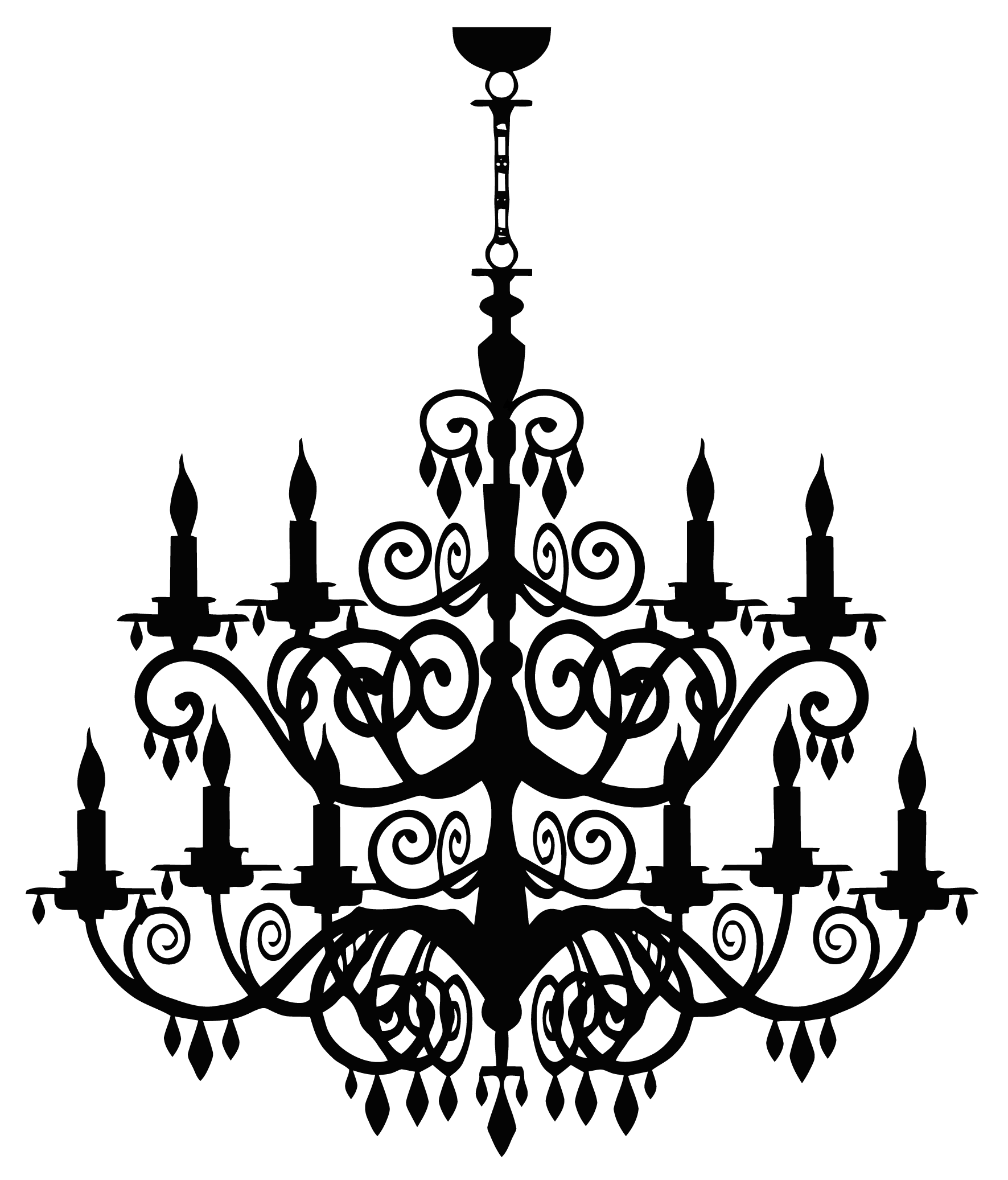 picture freeuse stock Chandelier clipart baroque. Fancy light png photos.