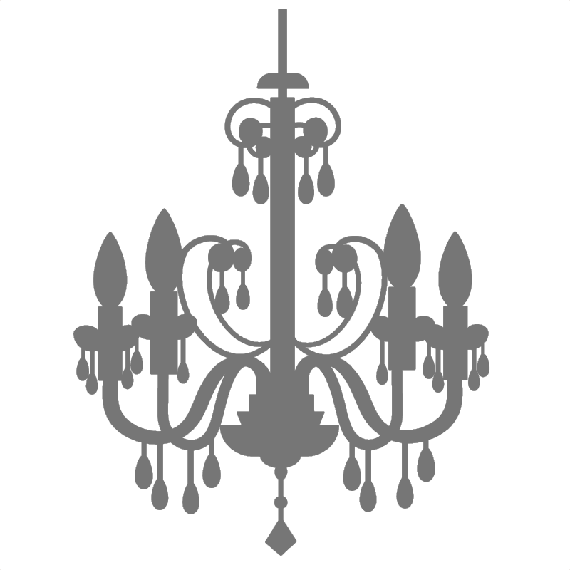 image free Black and white free. Chandelier clipart draw.