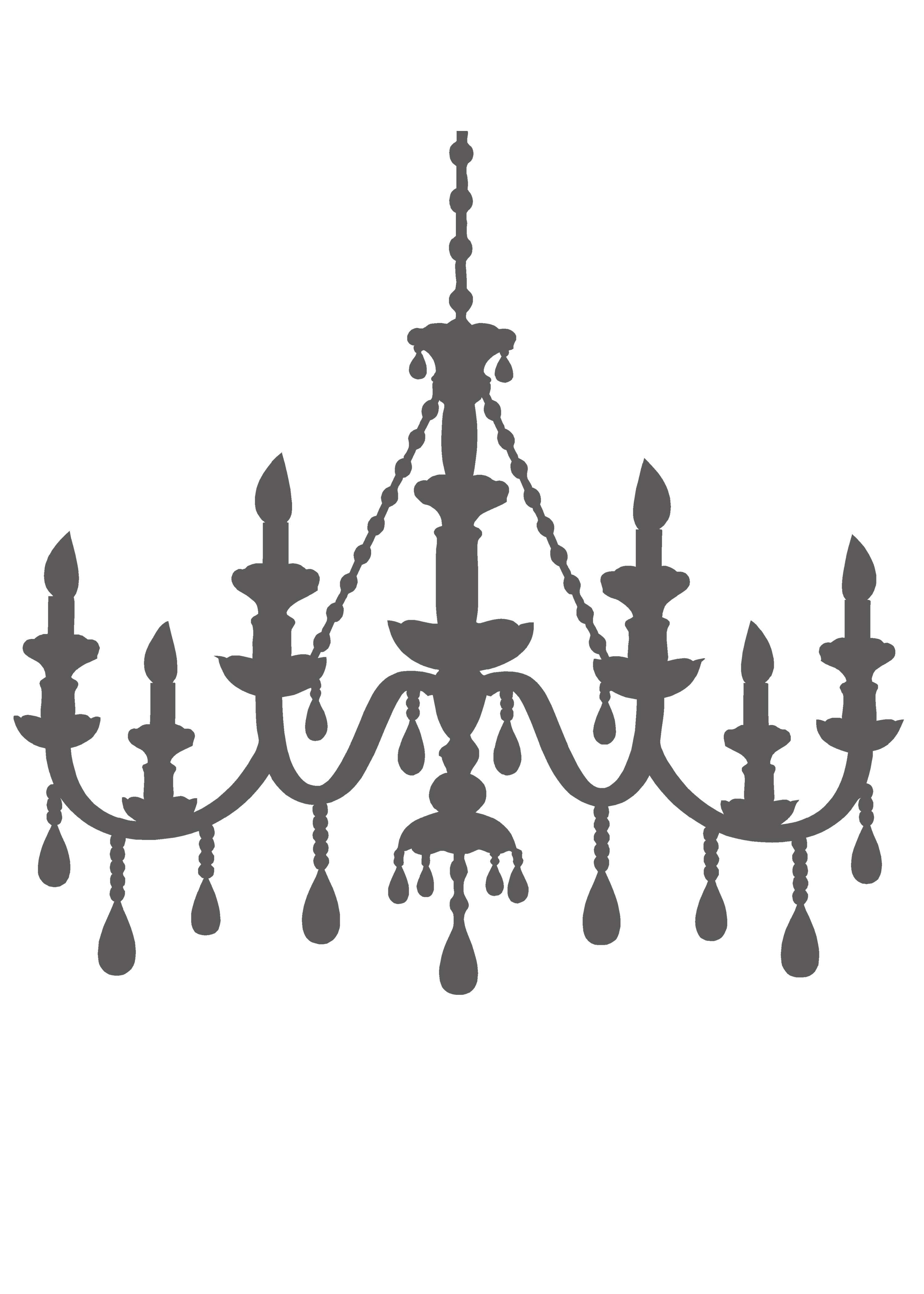 png royalty free Template for brooke lola. Chandelier clipart draw.