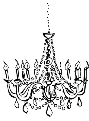 picture royalty free download Chandelier clipart draw. Mareca s drawings in.