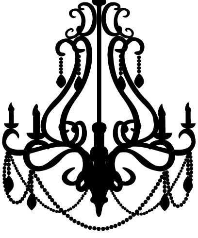image stock By little spitfire d. Chandelier clipart draw.