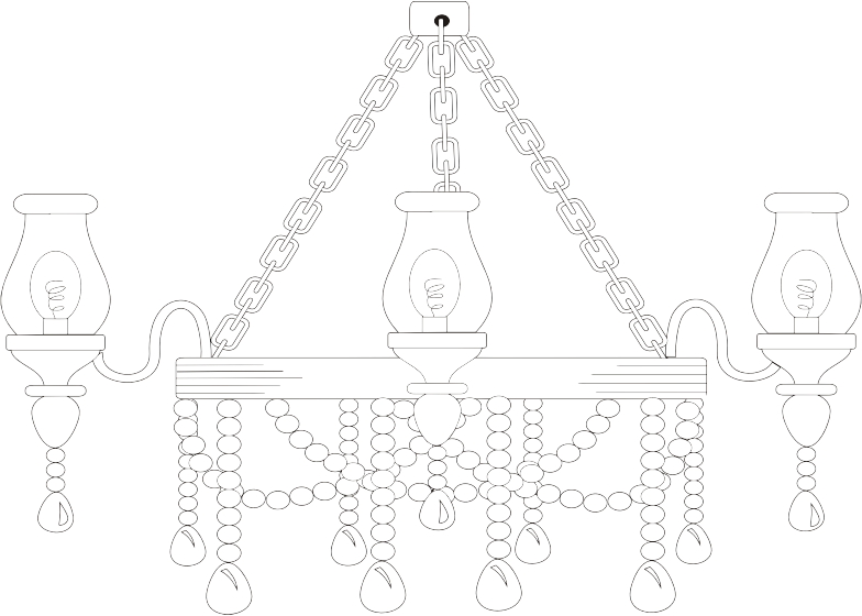 graphic library library Chandelier clipart draw. Line drawing at getdrawings.
