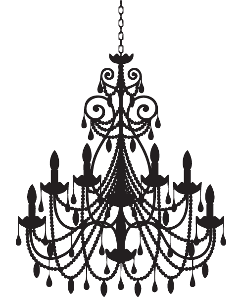 clip art download  th century french. Chandelier clipart phantom the opera.