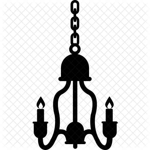 png black and white Decoration light icon furniture. Chandelier clipart svg.
