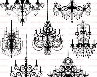 graphic royalty free Etsy . Chandelier clipart svg.