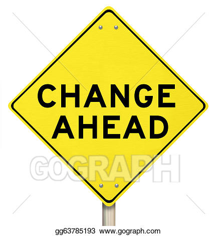 svg freeuse stock Change clipart. Yellow warning sign ahead.