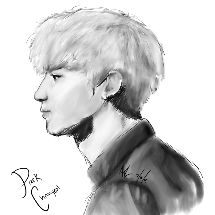 clip free download Park chanyeol sketch by. Drawing necks realistic