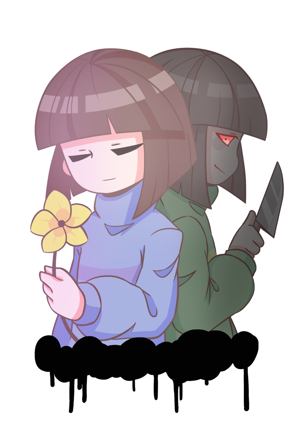 banner royalty free download Image result for chara and frisk
