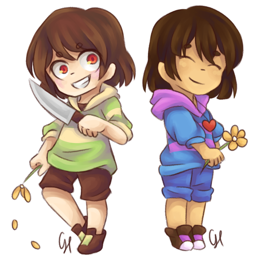 image free stock Frisk and Chara