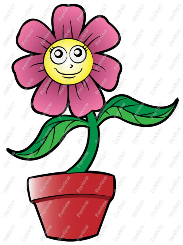 vector library library Character clipart flower. Cartoon images free download.