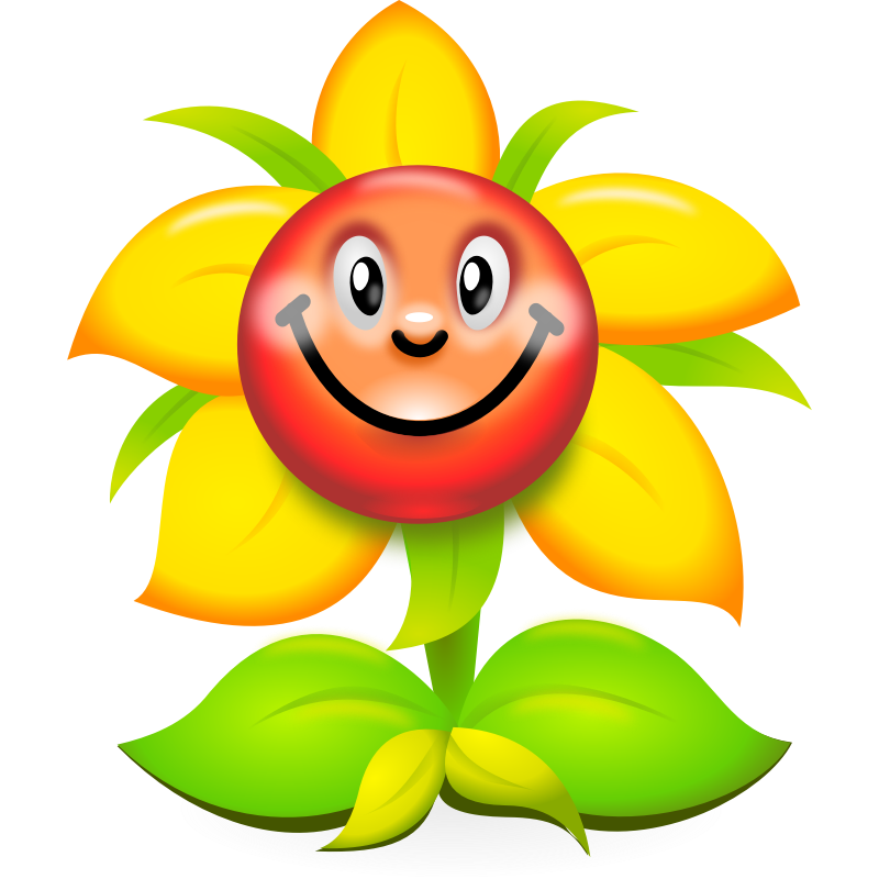 banner Character clipart flower. Funny yellow superb production.