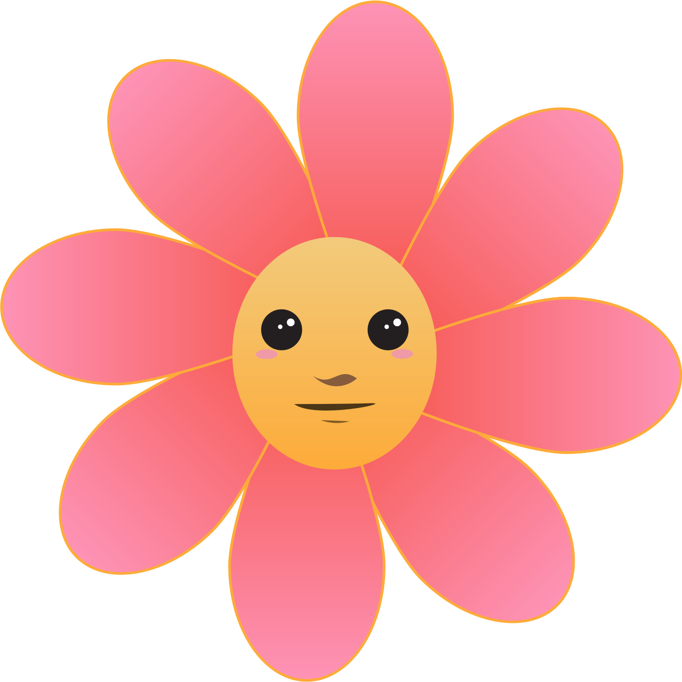 image royalty free stock Face big image png. Character clipart flower.