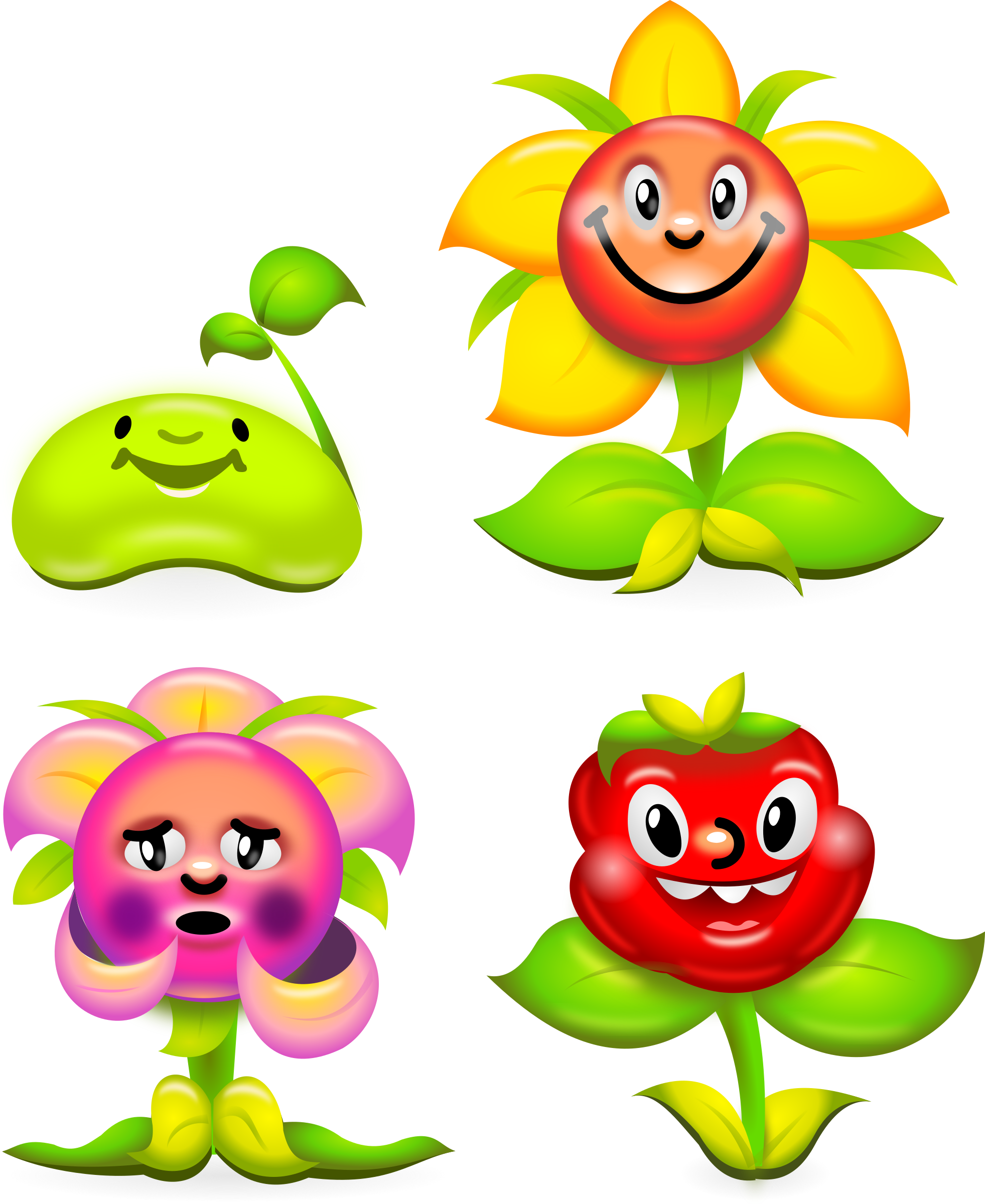jpg library stock Character clipart flower. Game characters superb production.