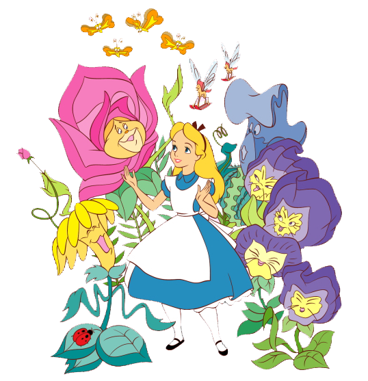svg library download Alice in wonderland the. Character clipart flower.