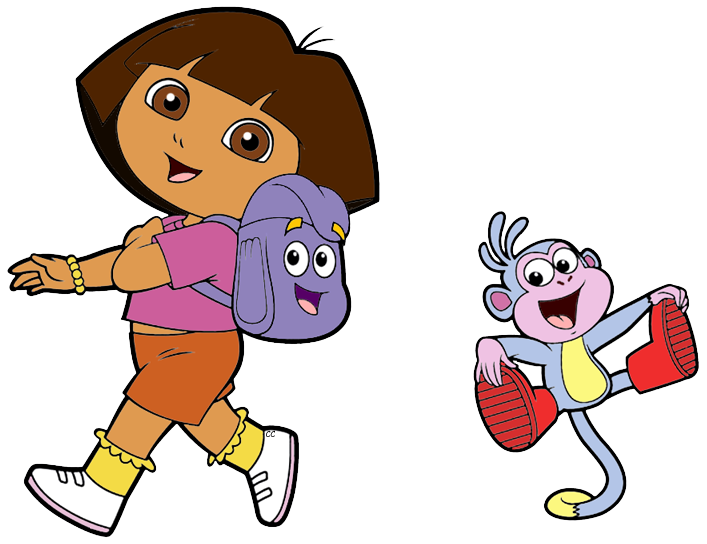 jpg black and white Dora the explorer clip. Characters clipart.