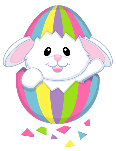 banner download Easter Cute White Bunny Transparent PNG Clipart