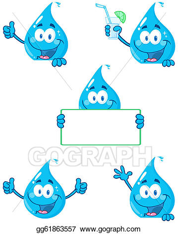 png transparent library Eps vector drop cartoon. Characters clipart water.