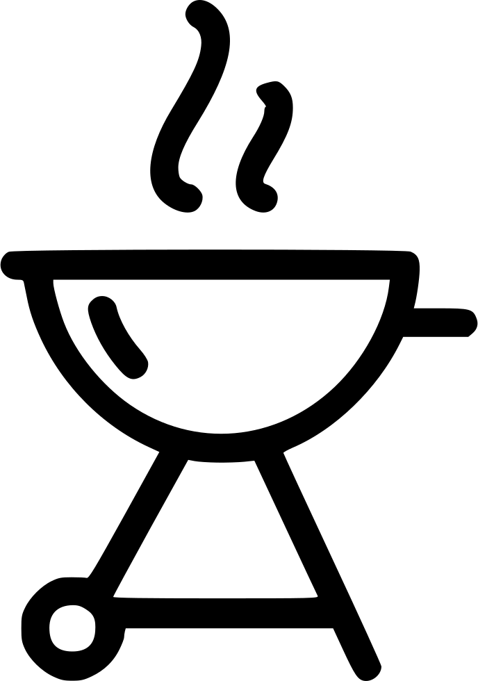 vector black and white library Grill Charcoal Barbecue Bbq Svg Png Icon Free Download