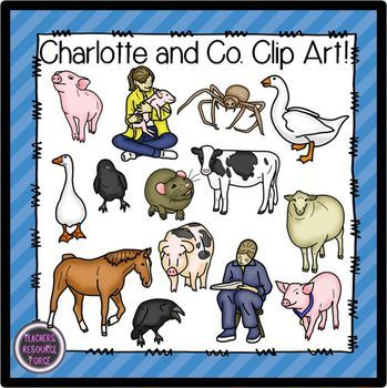 clip art transparent Charlotte's web characters clipart. Pin on school