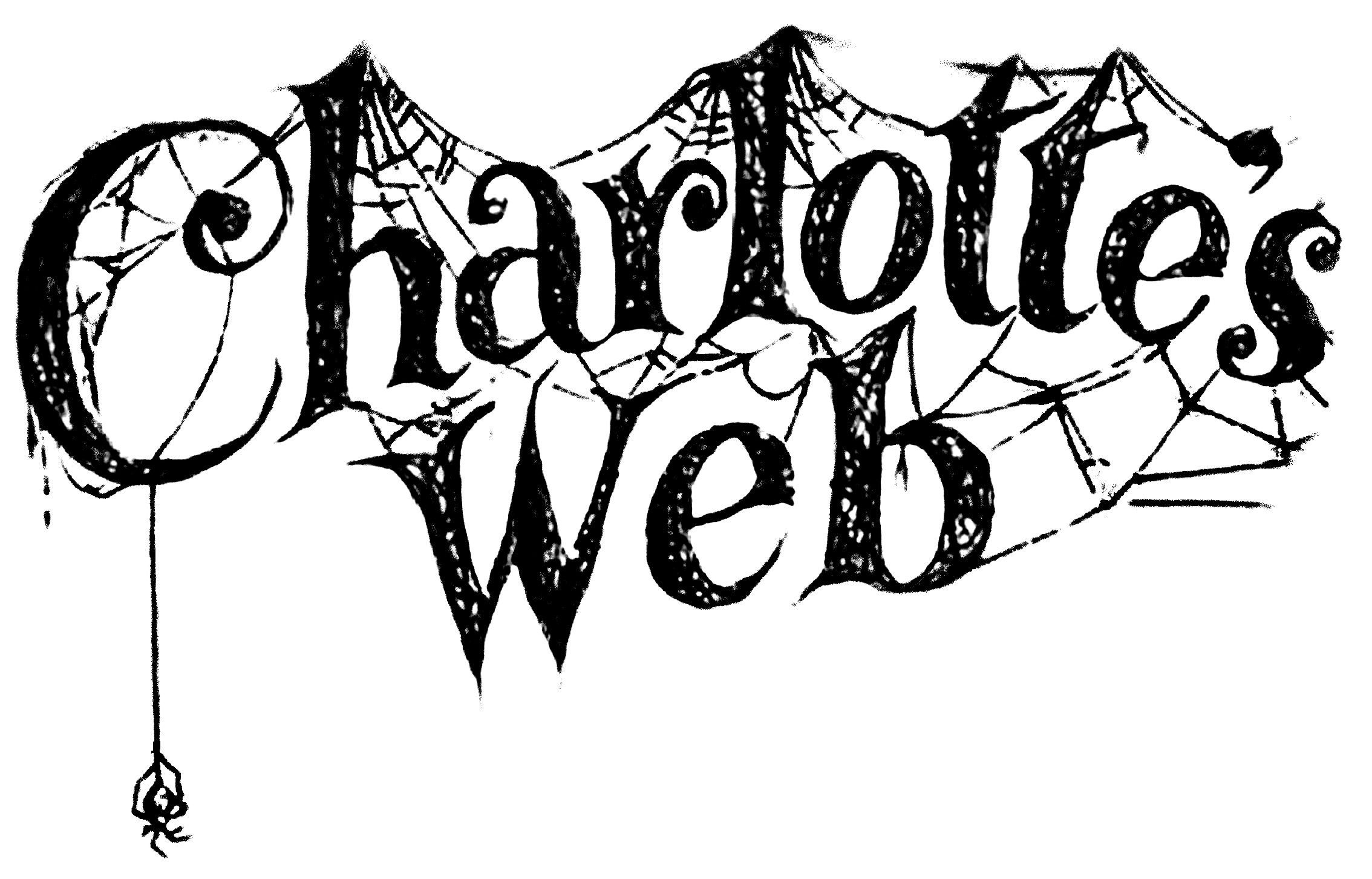 clip black and white library Charlottes station . Charlotte's web clipart