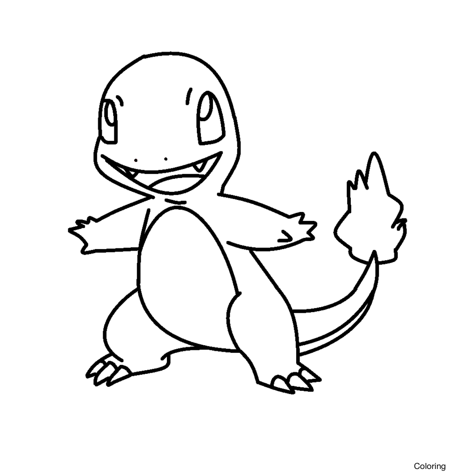 picture transparent download Coloring Pages Of Charmander