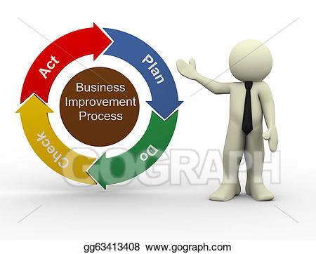 clip art download Chart clipart business improvement. Stock illustration d man.