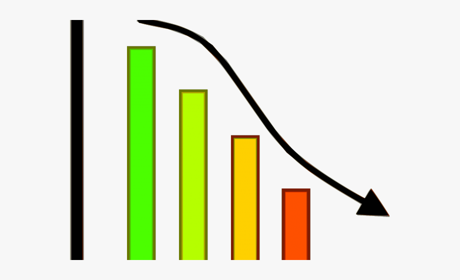 picture freeuse Chart clipart progress chart. Loss graph downward free.